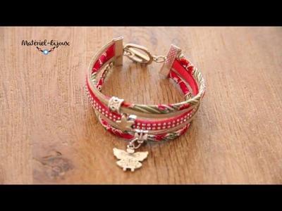 Bracelet Liberty et suédine Tuto vidéo