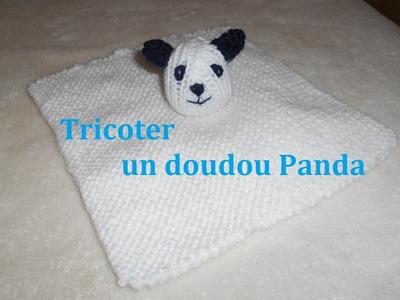 Tricoter un doudou panda