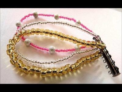 Apprendre à faire - Comment faire le bracelet Multirangs en perles de rocaille.