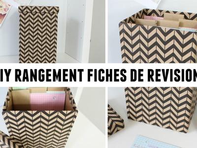 DIY 1 boite en carton pour vos fiches de révisions