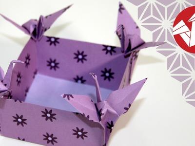 Tuto Origami - Boite Japonaise avec Grues [Senbazuru]