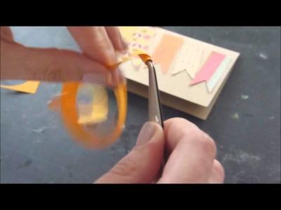 Carte avec fleurs rondes en papier