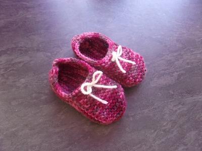 Chaussons 12 mois au tricot