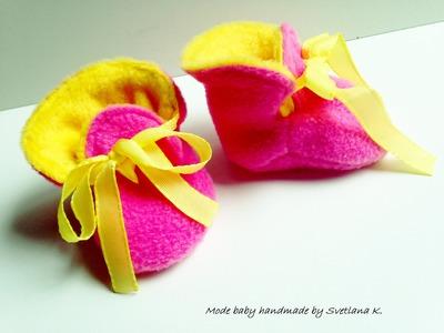 Tutoriel chaussons bébé réversible :  couture