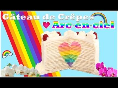 Recette de Gâteau de crêpes avec coeur arc-en-ciel - Carl Arsenault