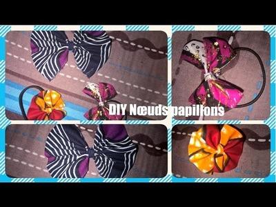 Mois spécial | Accessoires : DIY Nœuds papillons sans couture. No-sew hair bows