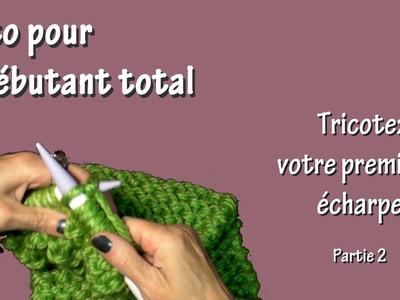 Tuto tricot pour débutant total : Première écharpe (Part. II)