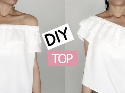 DIY Off the Shoulder Top. DIY Top Epaules Nues