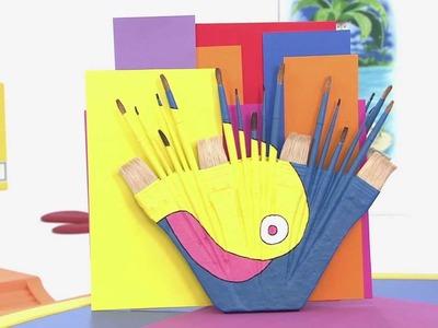 Art attack -  Recyclage de Vieux Pinceaux - Sur Disney Junior !