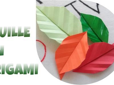 Origami Facile - Comment faire une FEUILLE en ORIGAMI