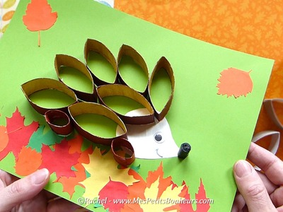 Bricolage récup' - hérisson d'automne en rouleaux de carton