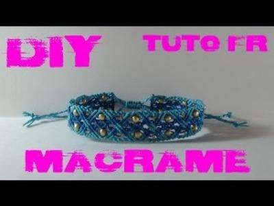 DIY - Tuto FR. Bracelet océan en macramé
