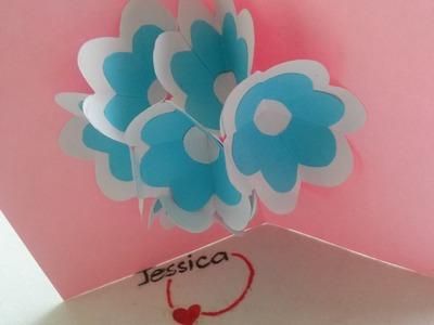 Idée bricolage - Carte Pop up de fleurs