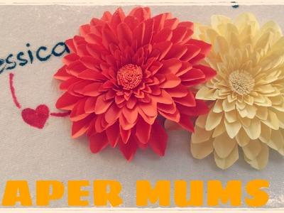 Origami facile - Fleur en papier (Chrysanthème)