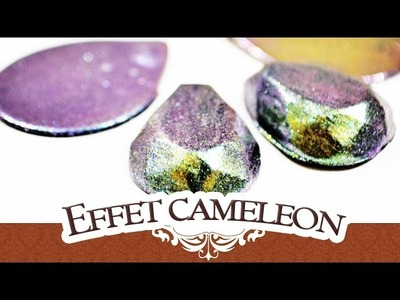 TUTO FIMO: Effet Cameleon. holographique pour vos créations! | Tuto Polymerclay iridescent effect
