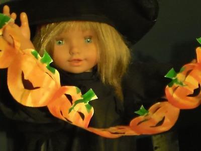 Fabriquer une guirlande de citrouilles pour Halloween   Bricolage ludique