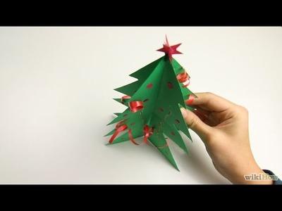 Fabriquer une guirlande de sapins en papier | Bricolage de Noël avec les enfants