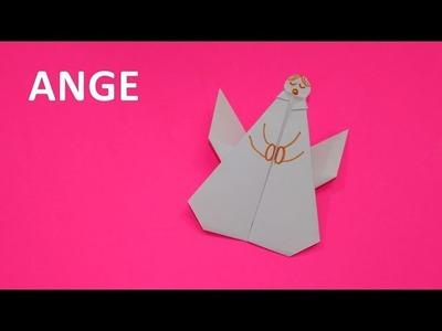Origami : comment faire un ange en papier plié. Bricolage de Noël. Vidéo éducative
