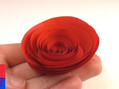 Bricoler une rose rouge en papier | Rose en papier simple et rapide à faire pour la Saint-Valentin