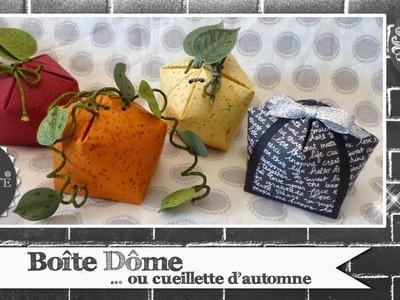 """Vidéo-Tuto """"Boîte Dôme ou Cueillette d'Automne"""" par Coul'Heure Papier"""
