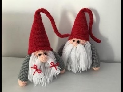 Gnome de Noël Amigurumi crochet (papa).Christmas Gnome (english subtitle)