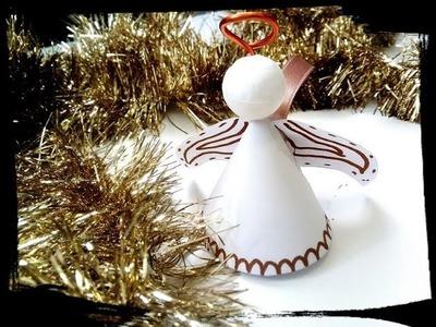 Noël - ange en papier diy