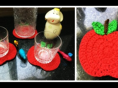 Dessous de verre au crochet pomme