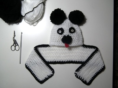 TUTO CROCHET Comment faire un Bonnet Panda