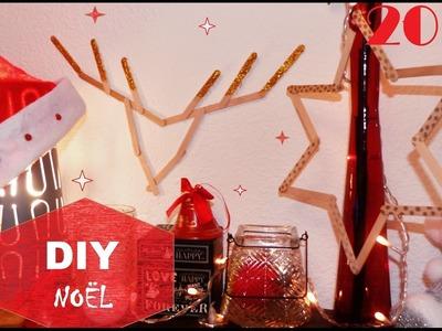 DIY Déco Noël  #1 - Tête de renne et étoile en batonnets de bois