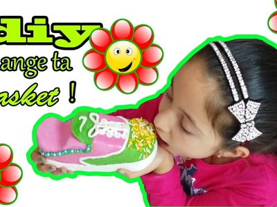 DIY.BASKET MANGEABLE!COMMENT FAIRE.HOW TO MAKE THE SHOES COMESTIBLE.
