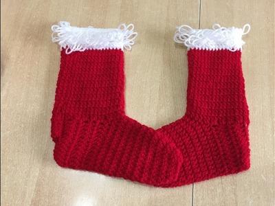 Tuto chaussettes, bottes de noël au crochet spécial gaucher