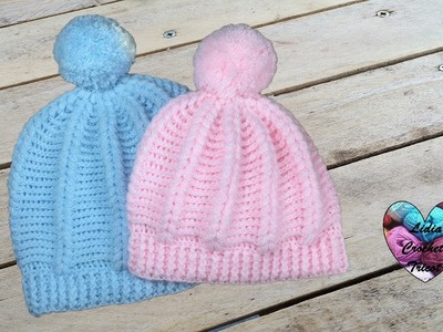 Bonnet point puff crochet toutes tailles. Beanie crochet all sizes (english subtitles)