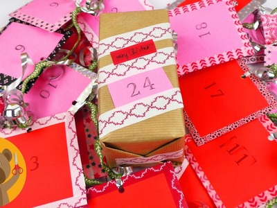 DIY Calendrier de l'Avent avec du thé ☕ 24 pochettes surprises & décoration avec du Washitape