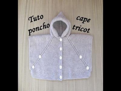 TUTO PONCHO CAPE AU TRICOT FACILE TOUTES TAILLES poncho cape easy knitting