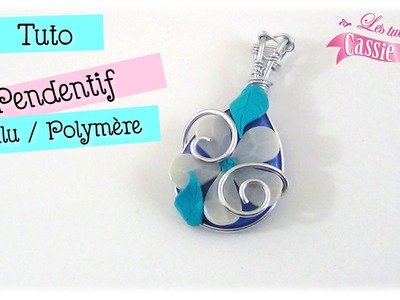 { Tuto } Pendentif fleur aluminium et polymère