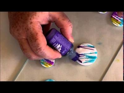 Tutoriel fimo coloré avec de l'encre à l'alcool