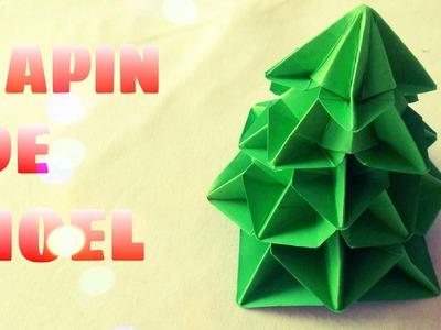 Origami facile - Sapin de Noël