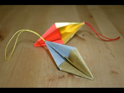 Origami - Pendentif de Noël - Christmas Ornament [Senbazuru]
