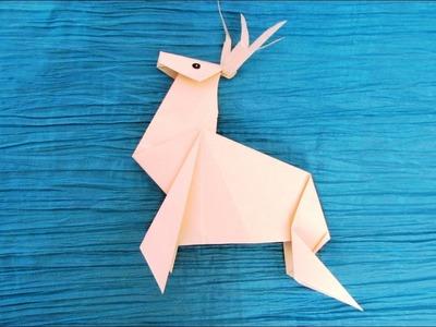 Origami : Renne de Noël