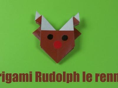 Origami Rudolph le renne : un origami facile pour Noël !