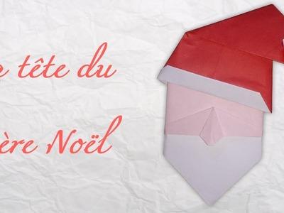 Origami ! Une tête du père Noël.