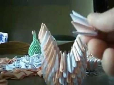 Tuto comment creer cygne origami 3d en francais