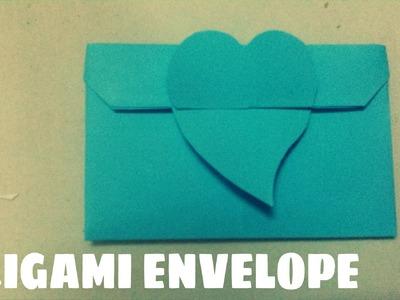 Origami facile - Enveloppe en forme de coeur