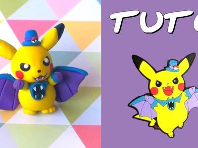 TUTO FIMO   Pikachu cosplay Nosferalto. Golbat (SPÉCIAL HALLOWEEN)