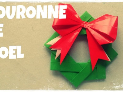 Décoration de Noël -  Faire Couronne de Noël en Papier