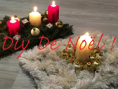 DIY : CENTRES DE TABLE POUR NOEL