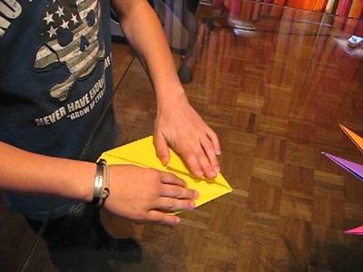 Fabrication origami d'une étoile soleil