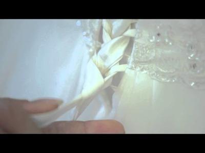 OR&Lys Tuto: Faire un laçage de dos robe de mariée