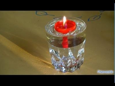 Fabriquer des bougies avec de l'huile et de l'eau