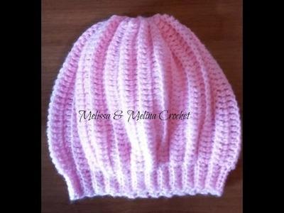 Crochet bonnet béret 6 à 12 mois facile